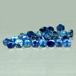 Multi-hue 6.28ct natural blue Sapphire parcel