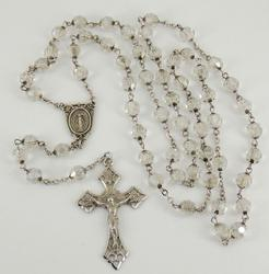 Rosary sterling silver necklace