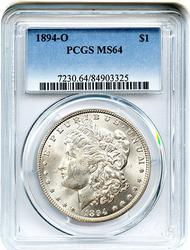 Highlight 1894-O Morgan Silver Dollar PCGS MS64