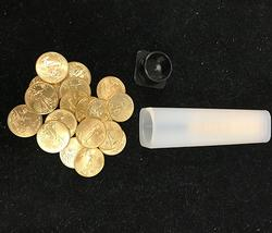 Full Roll of 1/10oz American Gold Eagles, BU 50 Coin