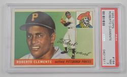 #164 Topps 1955 Roberto Clemente Pittsburgh Pirates - PSA 7