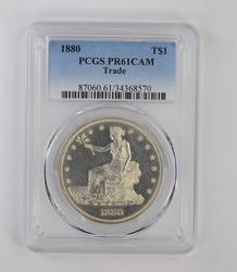 PR61DCAM 1880 Seated Liberty Silver Trade Dollar - PCGS Graded