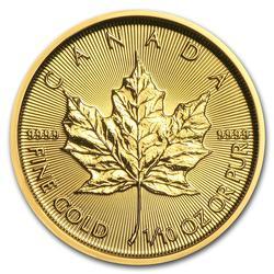 2018 1/10 oz Canadian Gold Maple Leaf Uncirculated