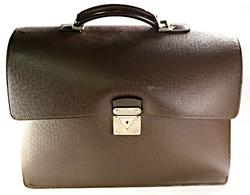 Robusto Briefcase in Grizzly Brown by Louis Vuitton