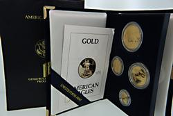1993 4 Coin Gold American Eagle Proof Set