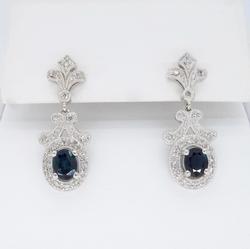 Vintage Inspired .50CTW Diamond Earrings