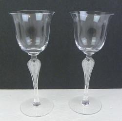 Vintage Faberge Ballerina Crystal Glasses