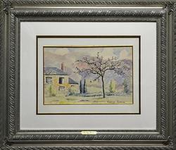 Paulemile Pissarro Museum Over Size Watercolor