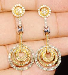 Stunning 14kt Gold Diamond Chandelier Earrings