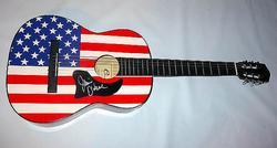 JAMIE O'NE Autograph USA FLAG Guitar & Proof PSA/DNA