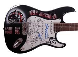 Robert Johnson Autographed Signed Airbrushed Guitar