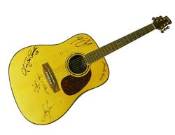 Kenny Chesney Plus Autographed Signed Country Guitar
