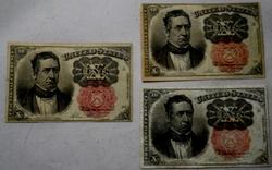 3 10 Cent  Meredith Fractional Notes Fifth Series