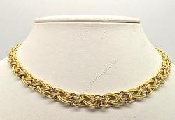 Impressive Solid 18kt Yellow Gold Necklace, Elegant!