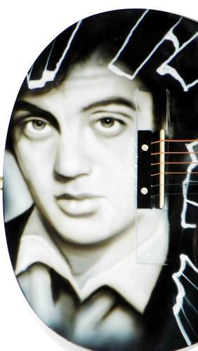 Billy Joel Autographed Signed Airbrushed Guitar PSA AFTAL
