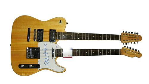 Bob Geldof Autographed Signed Doubleneck Guitar  PSA AFTAL