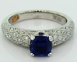 Such Elegance! Sapphire & Diamond Ring in 18K