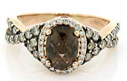 Le Vian Smoky Quartz & Diamond Ring