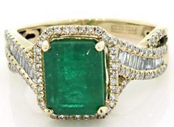 Effy Emerald & Diamond Ring