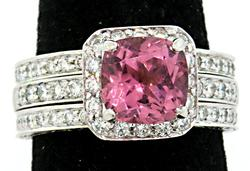 Penny Preville Tourmaline & Diamond Bridal Set in 18K