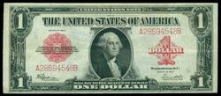 Near Mint 1923 Series Large Size RED SEAL $1 note