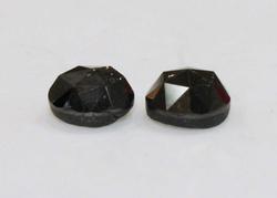 Rare Black Diamond Pair of Rose-cuts - 3.19 cts.