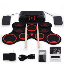 Portable Electronic Roll-Up Drum w/ Chargeable Battery