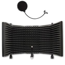 Studio Microphone Isolation Shield with Pop Filter
