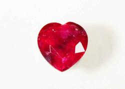 Glowing Natural Ruby Heart - 0.95 ct.