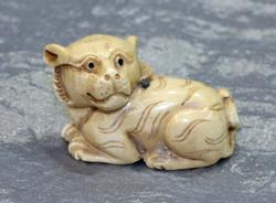 Natural Ivory Hand-carved Animal Bead Ojimi