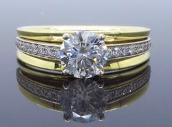 Striking .98CTW Diamond Engagement Ring, 18K