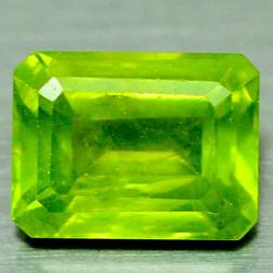 Vivid 1.89ct parrot green 6x8mm Peridot
