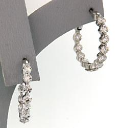 In & Out Diamond Hoop Earrings, 18K
