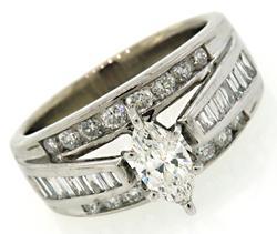 Triple Row Multi Diamond Ring