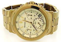 Michael Kors Gold Tone Chronograph Watch