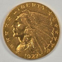 Great 1927 $2.50 Indian Gold Piece. Sharp