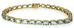 Aquamarine Line Bracelet