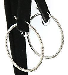 1.0 CTW Diamond in & Out Hoop Earrings in 10K