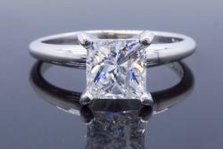1.00CT Certified Princess Cut Engagement