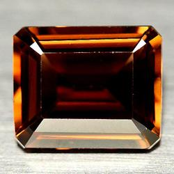 Sumptuous 6.20ct emerald cut Imperial Topaz