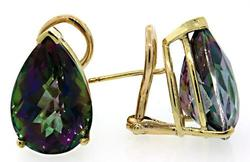 Large Pear Shaped Mystic Topaz Earrings