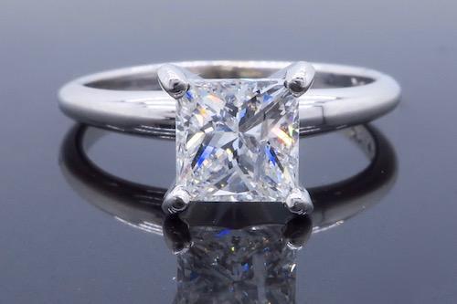 1.00CT Certified Princess Cut Engagement