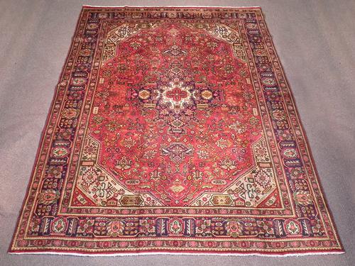 Semi Antique Heriz Design Persian Tabriz 11.0x8.2