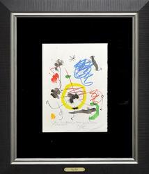 Rare Joan Miro Color Lithograph Circa 1964 With Dedication