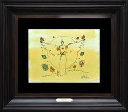 Rare Original Signed Peter Max Watercolor