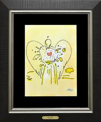Extremely Rare Peter Max Watercolor on Paper