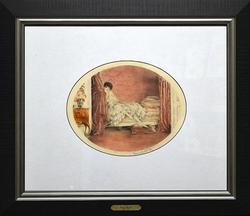 Louis Icart Vintage Etching Circa 1929, 'Pink Alcove'