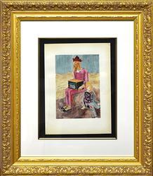 Collectible Pablo Picasso Color Pochoir Circa 1955
