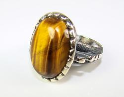 Charming & Appealing Large Gemstone 925 Silver Ring