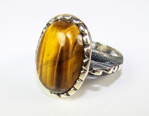 Charming & Appealing Large Gemstone 925 Silver Ring